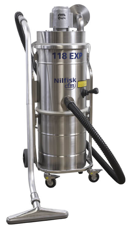 Another Safe Choice… The 118/50EXP, Our New Combustible Dust Vacuum!